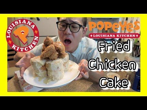 Making Popeyes Fried Chicken Cake + MUKBANG / Cooking My Feelings EP: 7