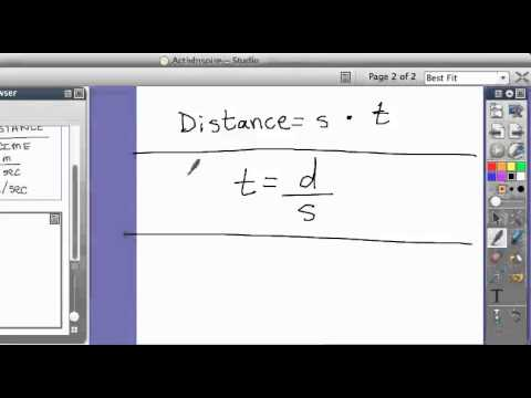 Physics: Solving For Speed, Distance, and Time formula