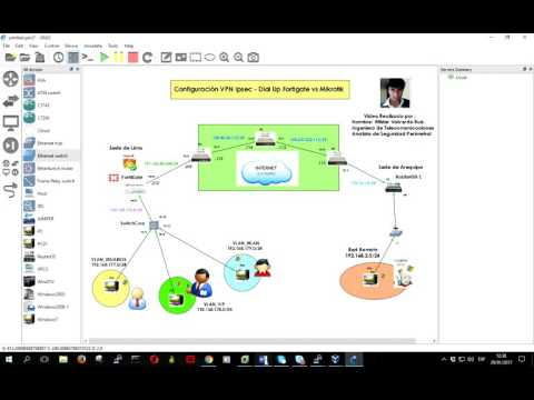 Mikrotik Router and Fortigate (5.4.2 )Site to Site VPN Ipsec Tunnel Configuration Dial up