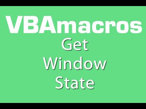 Get Window State - VBA Macros - Tutorial - MS Excel 2007, 2010, 2013
