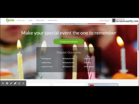 How to use Evite, online invitation website