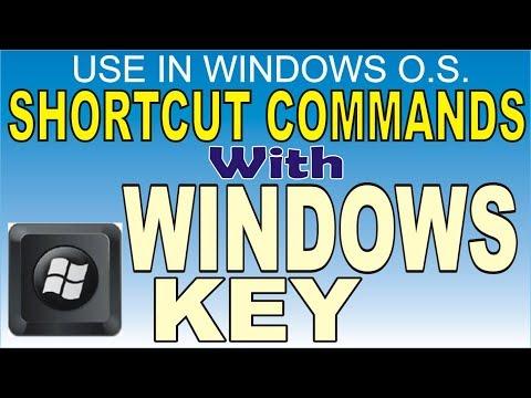Keyboard shortcuts with Window key (O.S. में windows Key के साथ उपयोग होने वाली कुछ shortcut Key)