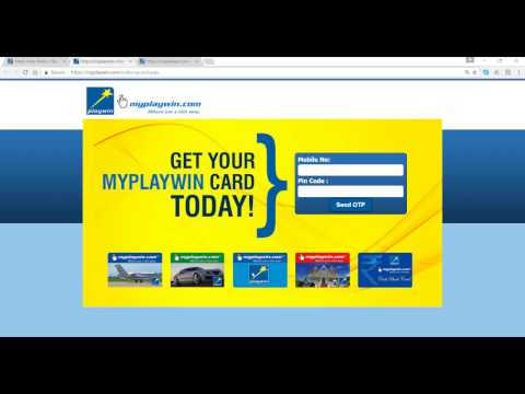 How to get MyPlaywin Card to play online Playwin lotto games