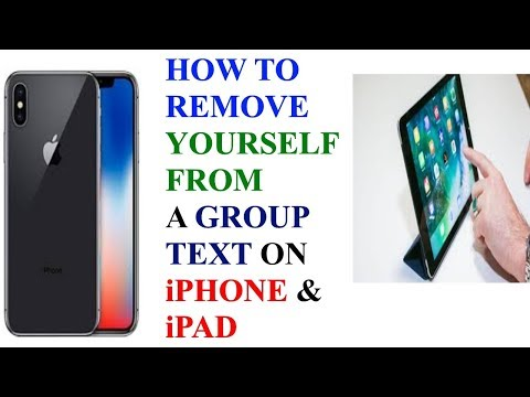 HOW TO LEAVE / REMOVE / SEPERATE YOURSELF FROM A GROUP TEXT / CHAT ON iPHONE AND iPAD