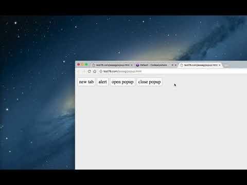 Javascript Popup Window Open, Close, alert, mouseover navigation exit message