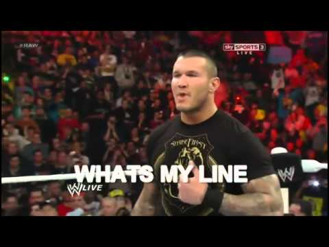Randy Orton forgets his lines