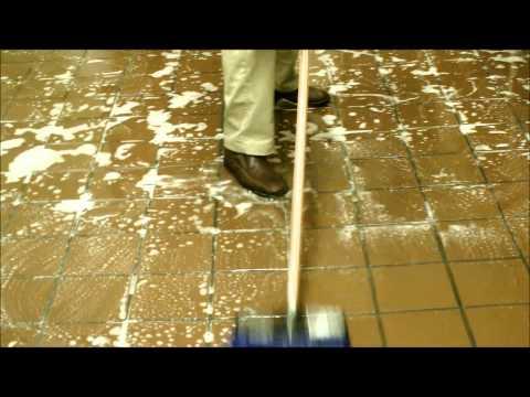 Floor Cleaning for Restaurants- Back of House using a Foam Gun