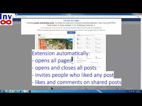 Script to invite who liked your post in Facebook and comment on all shared posts