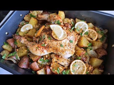One-Pan Roasted Lemon Garlic Chicken & Potatoes | Episode 137