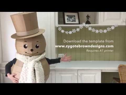How to make a cardboard Snowman costume