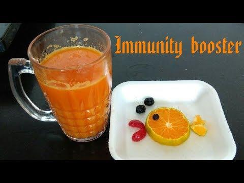 Orange turmeric immunity boosting juice