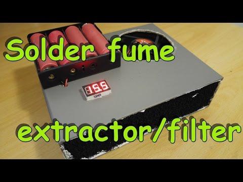Solder fume filter/extractor