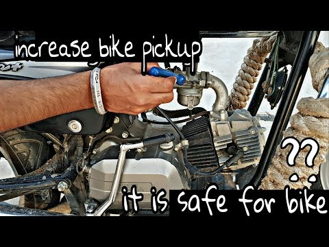 how to increase bike pickup it is safe for bike ?? useful video must watch