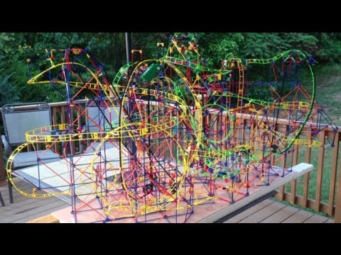 6 Knex Roller Coasters, and 6 Cars on 1 Track (6RCs1Track6Cars)