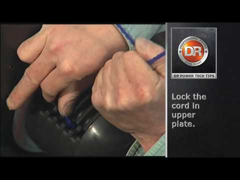 How to Change Cord on the DR Trimmer with Line Plates