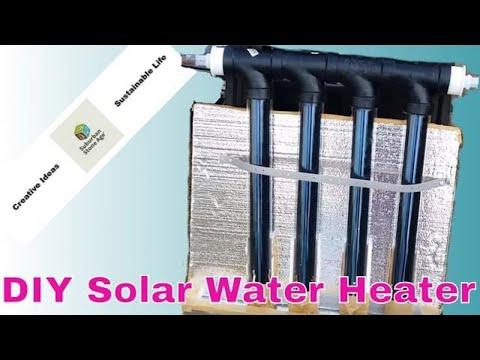 DIY solar vacuum tube hot water heater