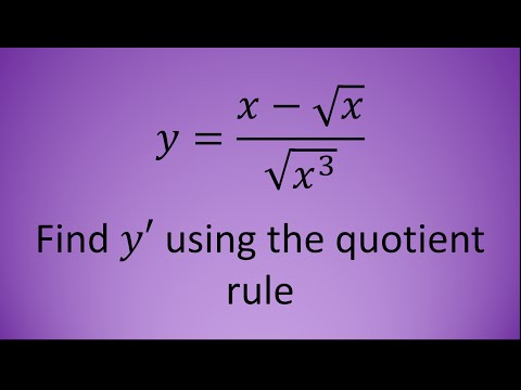 The Quotient Rule - Example 2