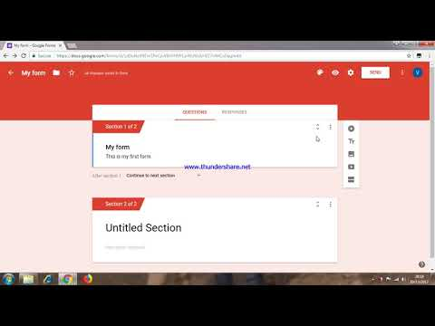 How to add section in google form