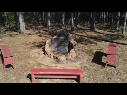 Homemade Fire Pit - DIY - All Natural - Just Rock, Stones and Mud