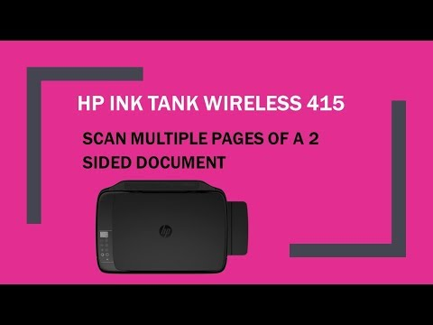 HP Ink Tank Wireless 415 | 419 | 418 | 410 : Scan multiple pages of a 2 sided document