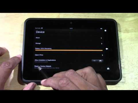 Kindle Fire HD: How to Reset Back to Factory Settings​​​ | H2TechVideos​​​