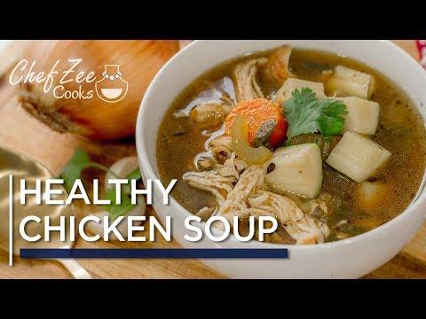 Keto Chicken Soup | Healthy Chicken Soup | Sopa de Pollo con Vegetales | Chef Zee Cooks