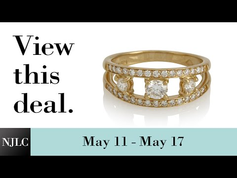 Deal of the Week: Yellow Gold 3 Stone Ladies' Fashion Ring
