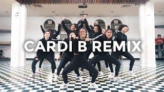 Cardi B Remix Bartier Cardi, Bodak Yellow, MotorSport, No Limit/Plain Jane (Dance Video)