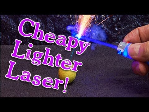 Amazing Cheapy Lighter Laser Burner!