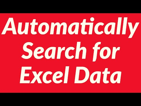 Automatically Search for Excel Data, Display and Print Using VBA