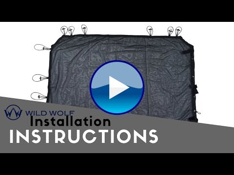 Wild Wolf Pack Jeep 4 Door Sunshade Installation Instructions
