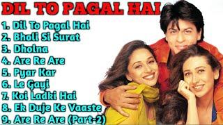 || Dil To Pagal Hai Movie Song All|Shahrukh Khan, Madhuri Dixit & Karishma Kapoor|ALL TIME SONGS ||