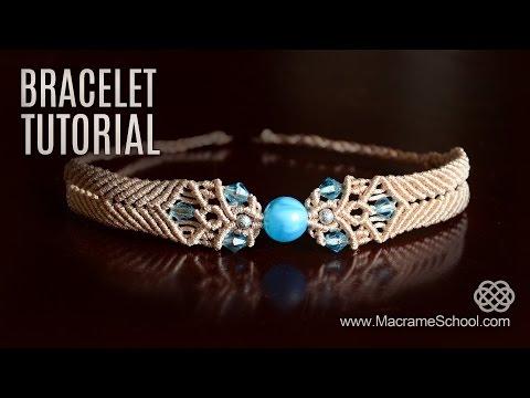 Big Bead Boho Bracelet Tutorial by Macrame School