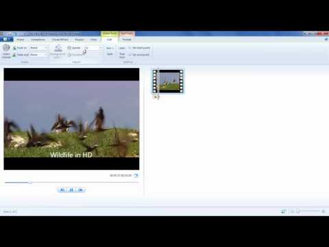 How to speed up and add a slow motion effect in a video using Windows Live Movie Maker
