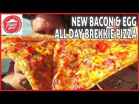 PIZZA HUT -  New All Day Breakfast Pizza - Egg and Bacon Pizza REVIEW 🍕