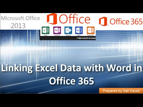 Linking Data from Excel with Word for Reports in Office 2013 (Office 365) 16 of 18