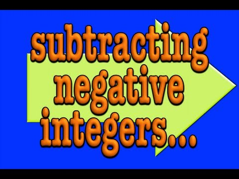 Subtracting Negative Integers!