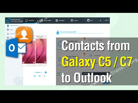 How to Export Contacts from Galaxy C5 / C7 to Outlook for Backup Easily