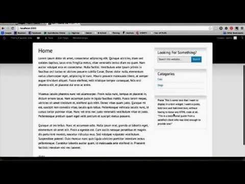 Styling Widget Content in WordPress