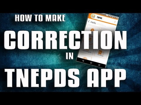 CORRECTION IN TNEPDS | TNEPDS APP | HOW TO MAKE CORRECTION IN TNEPDS APP