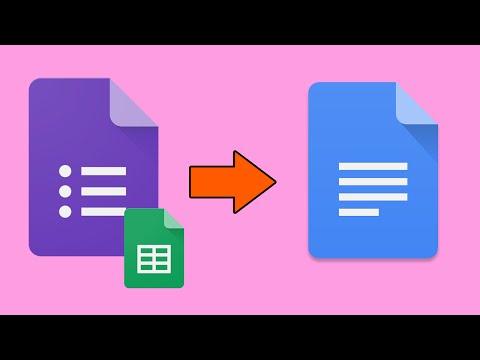 How to make Google form go to Google Doc