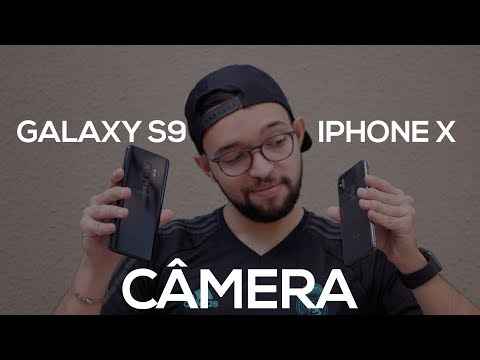 GALAXY S9+ vs iPHONE X | COMPARAÇÃO ENTRE AS CÂMERAS