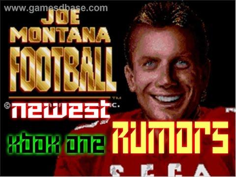 Newest rumors of Joe Montana Football 16 #XboxOne