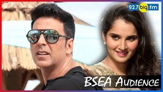 BSEA Audience Sania Mirza and Akshay Kumar