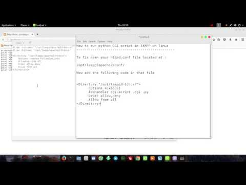 Running Python CGI scripts on Lampp