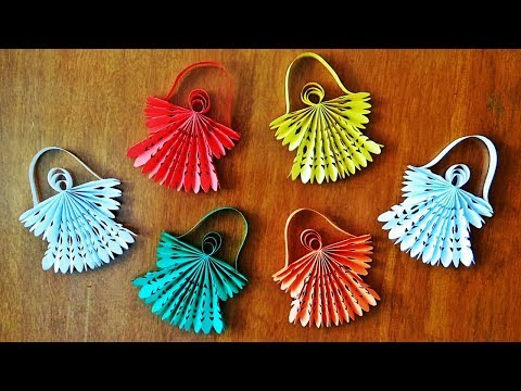 How to Make Paper Angel | DIY Christmas Ornaments | Diwali Decoration | Weihnachtsdeko | Craftastic