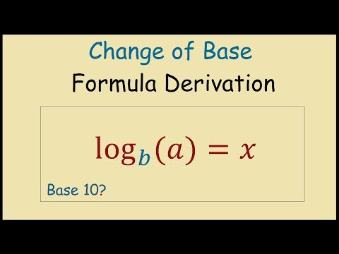 Logarithms Change of Base Formula Derivation and Example