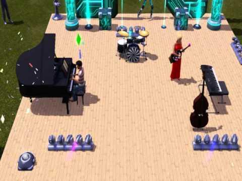 Les Sims 3   Concert d'un groupe