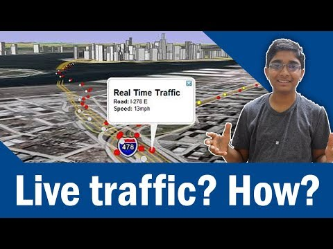 How does Real Time Traffic on Google Maps work? Does it provide correct traffic data?