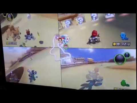 4 players MARIOkart race
